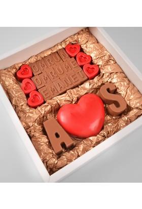 Tatlistan Kişiye Özel Harfli Aşk Çikolatası