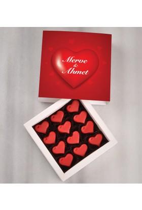 Tatlistan Kişiye Özel Kalp Çikolatalar
