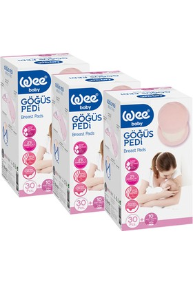 Wee Baby Göğüs Pedi 120 Adet (3 Kutu)
