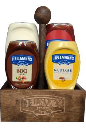 Hellmann's 4'lü Sos Paketi Ahşap Tepsili