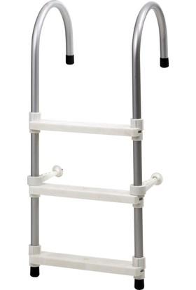Hobi Store Tekne - 3 Basamaklı Bot Merdiveni ( Beyaz )