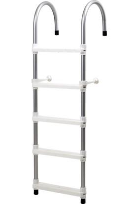 Hobi Store Tekne - 5 Basamaklı Bot Merdiveni ( Beyaz )