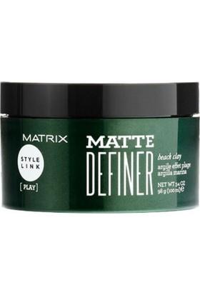 Matrix Style Link Play Matte Definer Güçlü Tutucu Mat Kil Wax 100 Ml