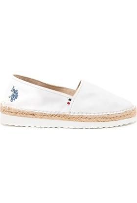 U.S. Polo Assn. Kadın 6Erna Ayakkabı Beyaz
