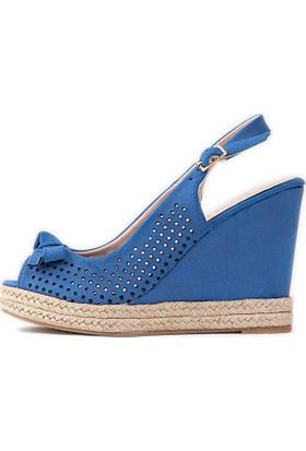 U.S. Polo Assn. Kadın Sandalet Mavi