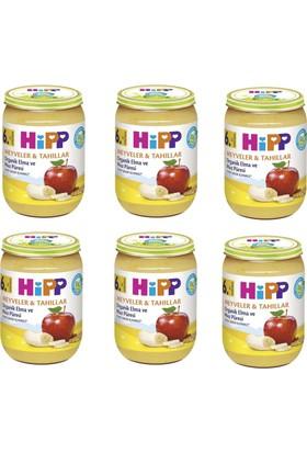 HiPP Organik Elma ve Muz Püresi Kavanoz 190 gr. 6 Adet