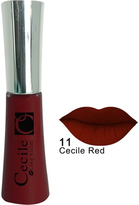Cecile Kalıcı Mat Ruj / Long Kisses Lipgloss 11