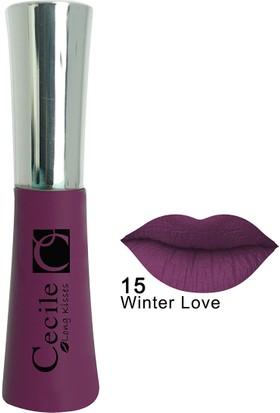 Cecile Kalıcı Mat Ruj / Long Kisses Lipgloss 15