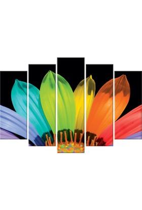 Tablom Renkli Yapraklar 5 Parçalı Kanvas 108 x 70 cm