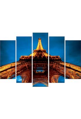 Tablom Eyfel Kulesi 5 Parçalı Kanvas 108 x 70 cm