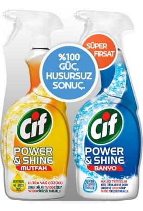 Cif Power & Shine Mutfak 750 ml & Banyo 750 ml Süper Fırsat Seti