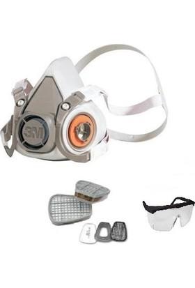 Maske 3M 6200 Maske Full Set+Mervem Gözlük