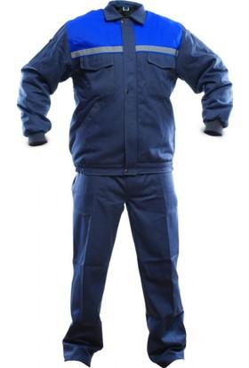 İş Takımı 7/7 Gabardin Kapitoneli Reflektörlü %100 Pamuk S