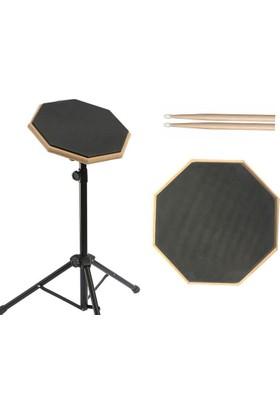 Donizetti Bateri Drum Pratik Çalışma Pedi ve Standı + Baget