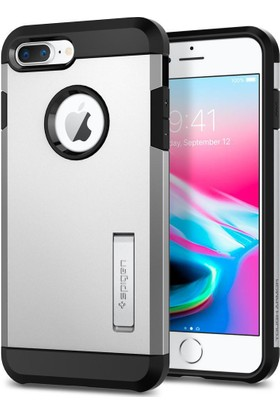 Spigen Apple iPhone 8 Plus - iPhone 7 Plus Kılıf Tough Armor 2 Satin Silver - 055CS22247