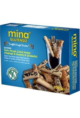Mina Glutensiz Tuzlu Karışık Çubuk Kurabiye 200 gr