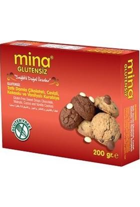 Mina Glutensiz Tatlı Damla Çikolatalı Cevizli Kakaolu Kurabiye 200 gr