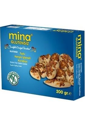 Mina Glutensiz Glutensiz Tuzlu Karışık İşlemeli Kurabiye 200 gr