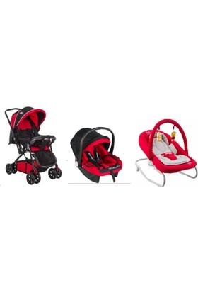 Baby Keeper Lüx 3'lü Set Çift Yönlü Bebek Arabası Puset Oto Koltuğu Anakucağı Anadizi Ana Kucağı