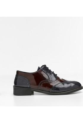 Yargıcı İki Renkli Deri Ayakkabı