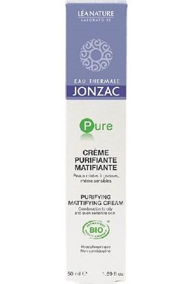 Eau Thermale Jonzac Pure Organik Sertifikalı Hipoalerjenik Matlaştırıcı Arındırıcı Krem 50 Ml.