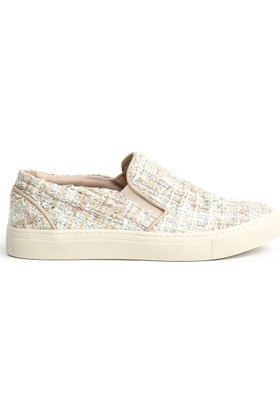 Art Goyaİçi Chanel Kumaş Kaplamalı Sneaker 65-FANCY Krem