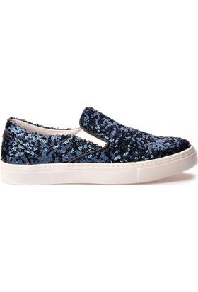 Pegia Sucre Payetli Sneaker REC-012 Lacivert