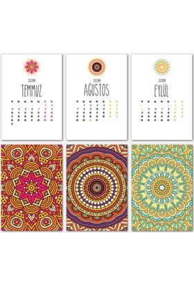Mandala Renkli Tasarımlı Takvim 2018