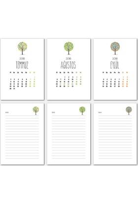 Top Ağaç Tasarımlı Takvim 2018