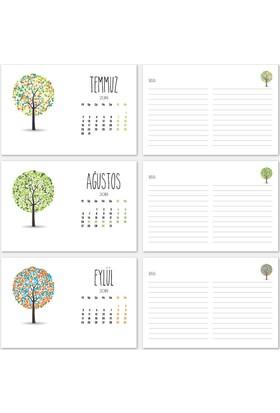 Top Ağaç Yatay Tasarımlı Takvim 2018
