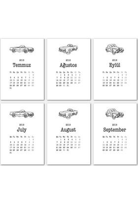 Araba Tasarımlı Takvim 2018