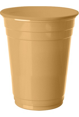 PartiBulutu Altın Plastik Büyük Meşrubat Bardağı 8'li