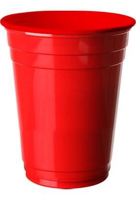 PartiBulutu Kırmızı Plastik Büyük Meşrubat Bardağı 8'li