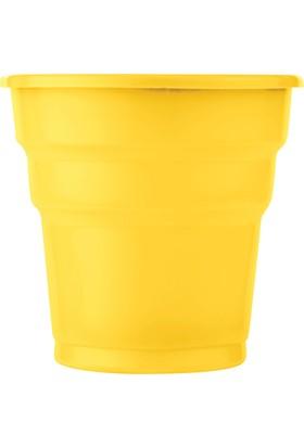 PartiBulutu Sarı Plastik Meşrubat Bardağı 25'li