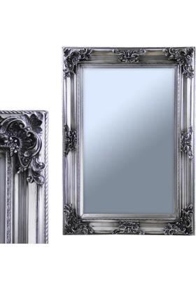 Ancel An309Qd2090 Gümüş Kaplamalı Antik Ahşap Çerçeveli Ayna