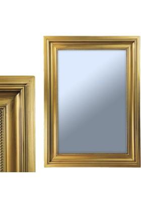 Ancel An309Qd3191 Altın Varaklı Antik Ahşap Çerçeveli Ayna