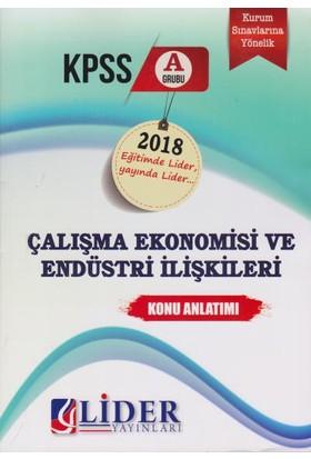 Lider Kpss A Grubu Çalışma Ekonomisi Ve Endüstri İlişkileri Konu Anlatımı