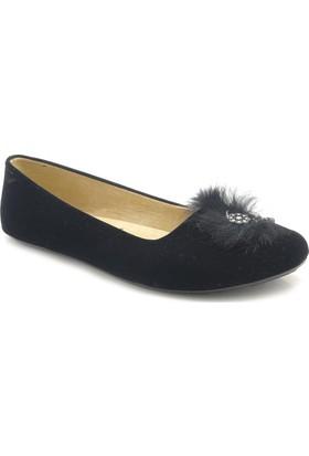 Mela 0012 Siyah Nubuk Ev Ayakkabısı