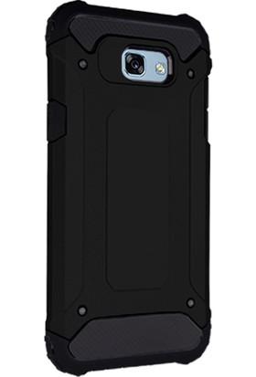 CaseUp Samsung Galaxy A3 2017 Tank Kılıf Siyah + Cam Ekran Koruyucu