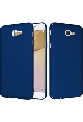 CaseUp Samsung Galaxy J5 Prime Rubber Kılıf Lacivert + Cam Ekran Koruyucu