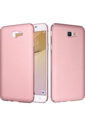 CaseUp Samsung Galaxy J5 Prime Rubber Kılıf Rose + Cam Ekran Koruyucu