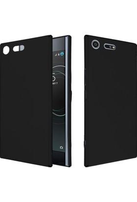 CaseUp Sony Xperia XZ Premium Rubber Kılıf Siyah + Cam Ekran Koruyucu