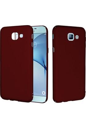 CaseUp Samsung Galaxy A8 2016 Rubber Kılıf Kırmızı + Cam Ekran Koruyucu