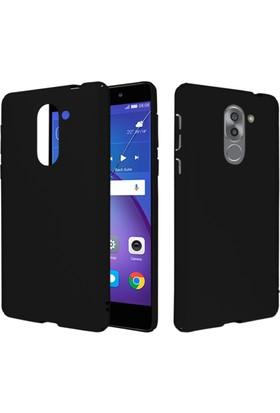 CaseUp Huawei GR5 2017 (Honor 6X) Rubber Kılıf Siyah + Cam Ekran Koruyucu