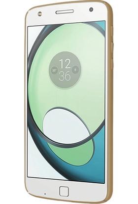 CaseUp Motorola Moto Z Rubber Kılıf Gold + Cam Ekran Koruyucu