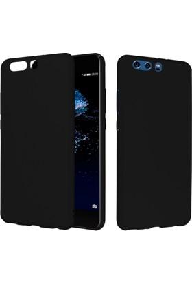 CaseUp Huawei P10 Rubber Kılıf Siyah + Cam Ekran Koruyucu