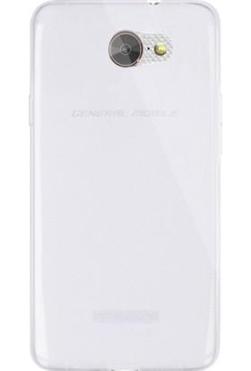 Microsonic General Mobile GM6 Transparent Soft Kılıf Beyaz