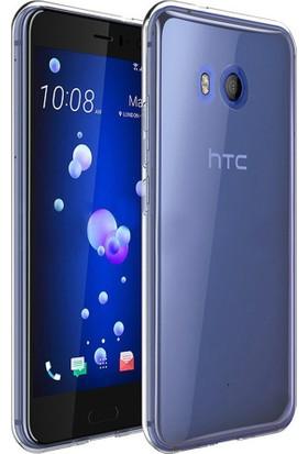 Microsonic HTC U11 Transparent Soft Kılıf Beyaz