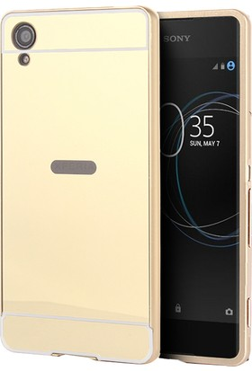 Microsonic Sony Xperia XA1 Luxury Mirror Kılıf Gold