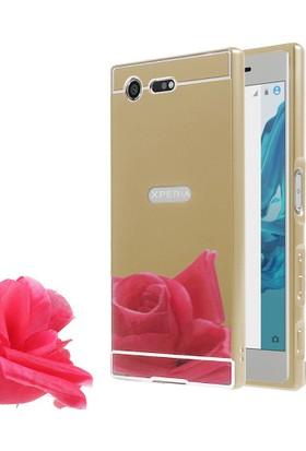 Microsonic Sony Xperia XZ Premium Luxury Mirror Kılıf Gold
